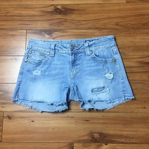 Miss Me Distressed Denim Shorts Size 30